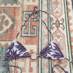 Purple Palm Bikini Top